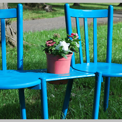 Cent-Sational Chair Bench with Planter