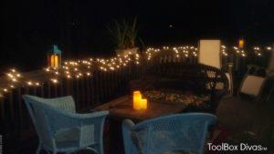 Outdoors at night
