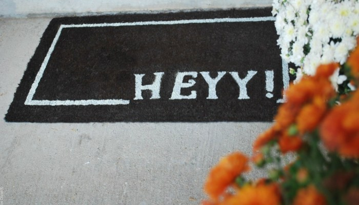 Easy DIY Painted Door Mat