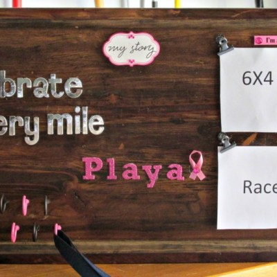 DIY Runner's Race Bib and Medal Holder