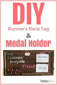 DIY Runners medal and race tag holder