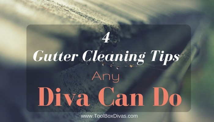 4 Gutter Cleaning Tips Any Diva Can Do