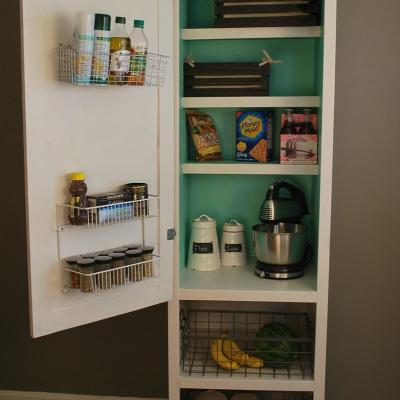 DIY Mobile Pantry Cabinet
