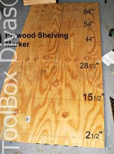 plywood shelving marker