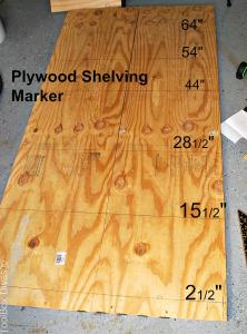 plywood shelving marker