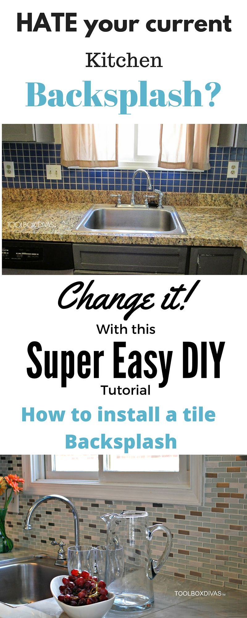 How to install a kitchen tile backsplash the easy way - How to replace backsplash ...