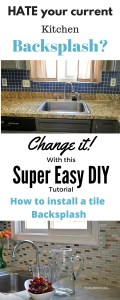 A Super Easy way How to install a kitchen tile backsplash