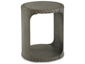 ToolBoxDivas_ART Furniture Epicenters Black Metal 26.5'' Wide Round End Table