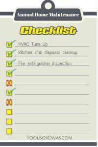 Annual Home Maintenance Checklist - ToolBox Divas