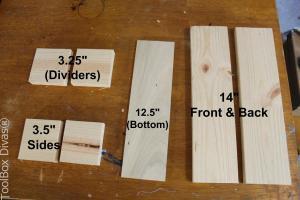 DIY Wooden Centerpiece -cut list- Toolbox Divas