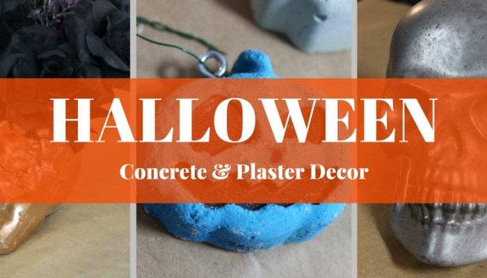DIY Halloween Decorations using Concrete and Plaster!