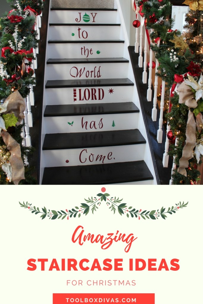 Amazing Staircase Ideas For Christmas- ToolBox Divas
