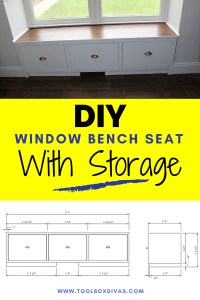 DIY Window Seat - Toolbox Divas