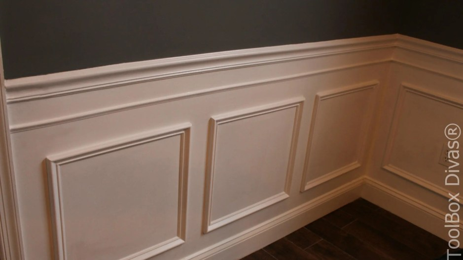 ToolBox Divas - How to install Wainscoting Picture Frame Moulding