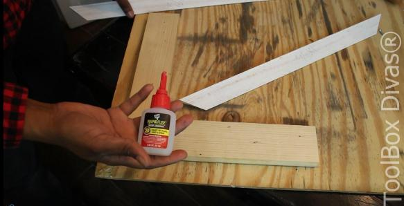 gluing picture frame