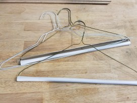 DIY Coat Rack using Wire Hangers - ToolBox Divas