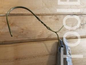 DIY Coat Rack using Wire Hangers - ToolBox Divas