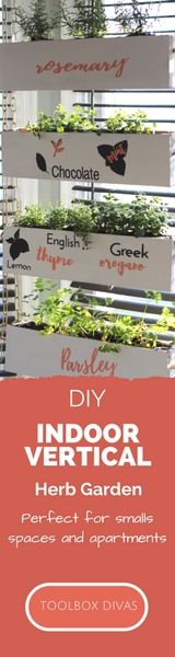 Indoor Vertical Herb Garden - Toolbox Divas