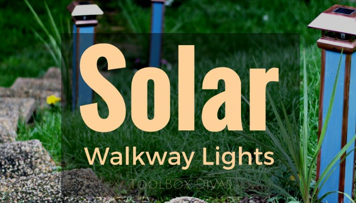 How to Make Solar Walkway Lights