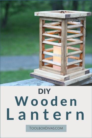 DIY Wooden Lantern - Toolbox Divas