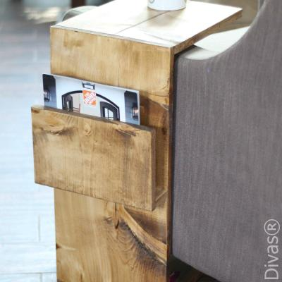 Sofa Laptop Desk with Magazine Rack