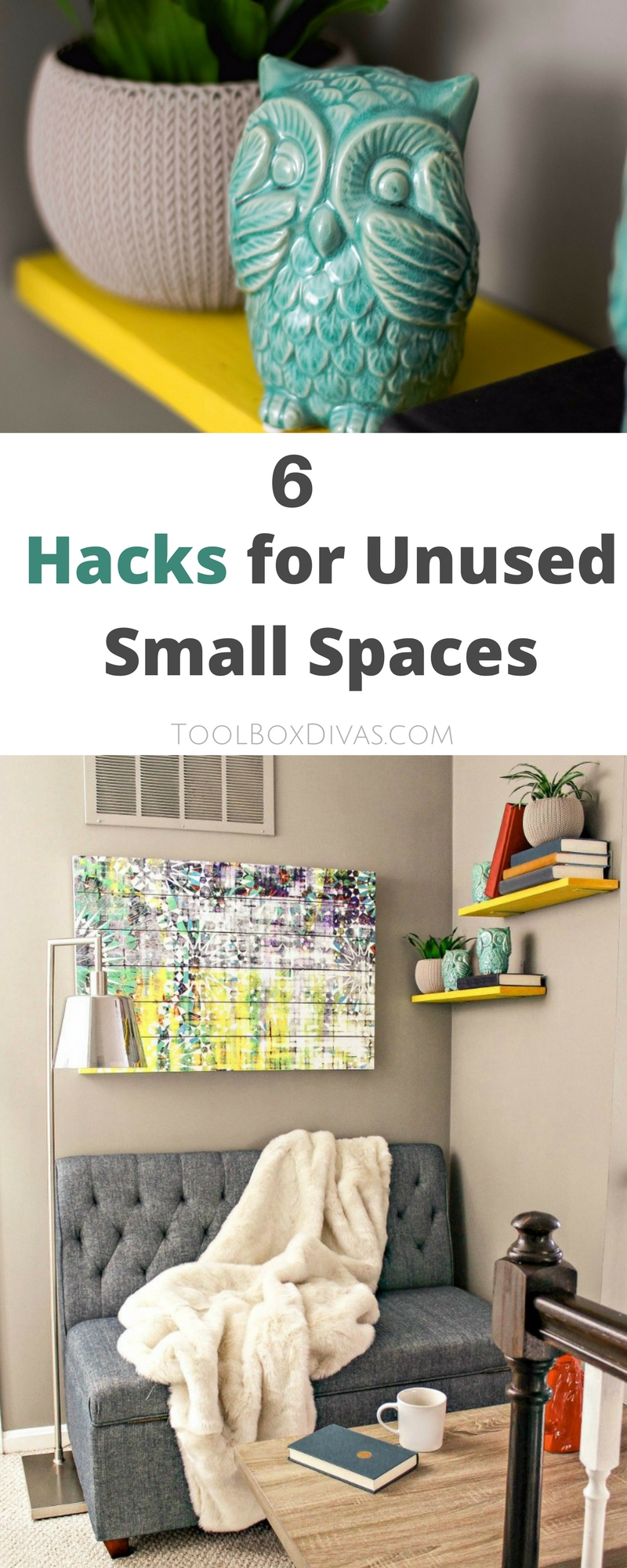 Give your home bonus rooms without drastically changing its footprint. Get the most out of your home with a little creativity. Transform that unused space in your home with these 6 steps. Create a reading nook. @Toolboxdivas @Homedepot  #Toolbox Divas #Homedepot #Sponsored #Furniture #interiordesign #Readingnook #smallspaces