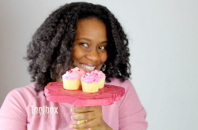Toolbox Divas Mini Cake Stand shaped like a rose