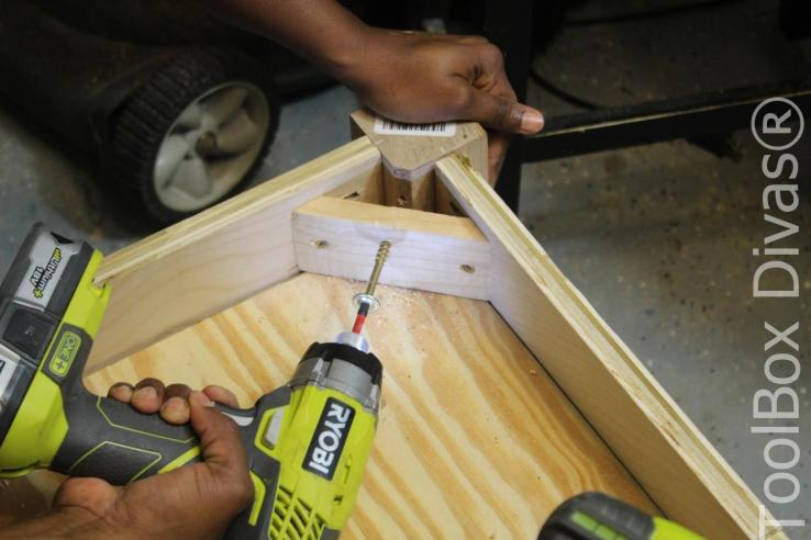 How to Build A DIY Tufted Bench - Toolbox Divas 23