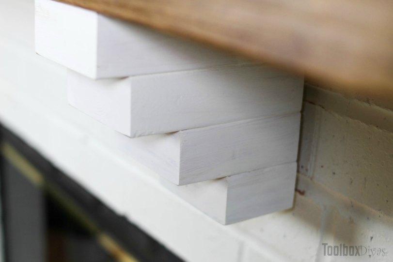 DIY Rustic Fireplace Mantel Toolbox Divas (11 of 25)