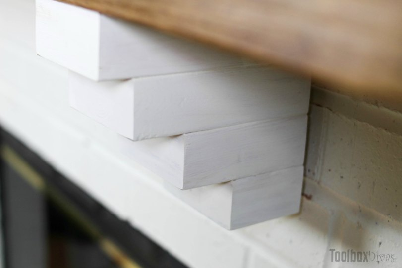 DIY Rustic Fireplace Mantel Toolbox Divas (11 of 25)