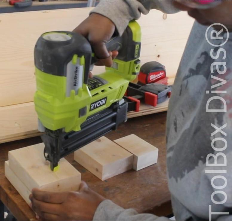 How to build a Rustic Faux wood beam mantel or floating shelf - Toolbox Divas 17