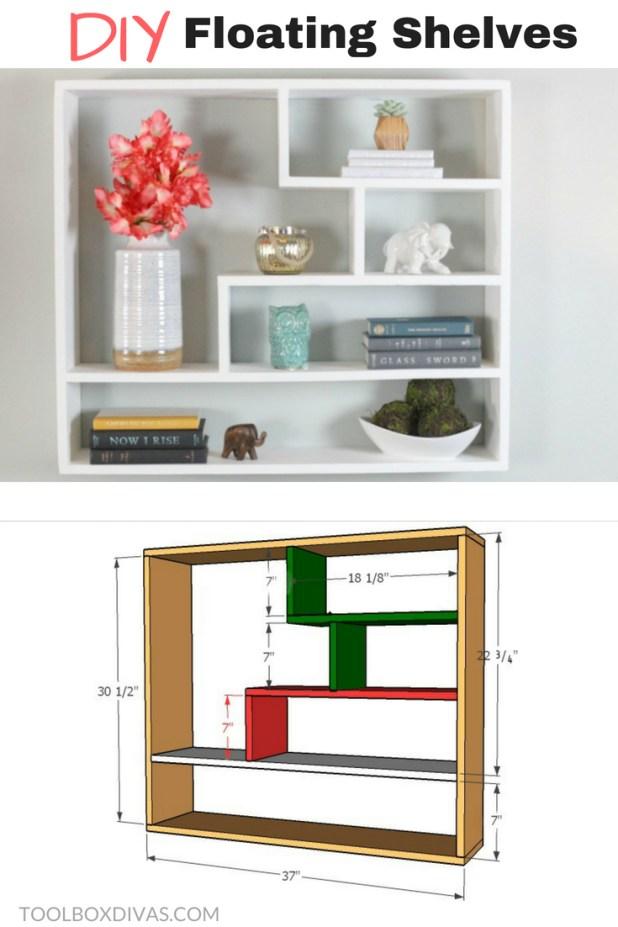 Floating Shelves/ bookcase/ bookshelf - Toolbox Divas