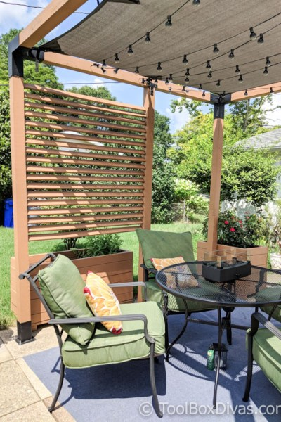 Must See DIY Patio Makeover with Pergola