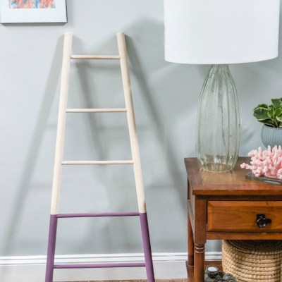 DIY Tapered Blanket Ladder