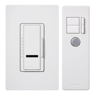 Lutron Maestro IR 600-Watt Single-Pole Digital Dimmer, White