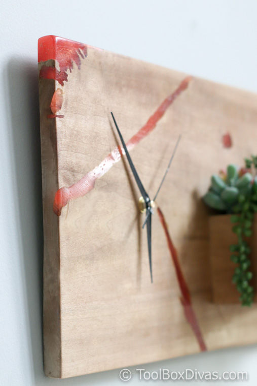 DIY Wood and Epoxy Clock - ToolBox Divas
