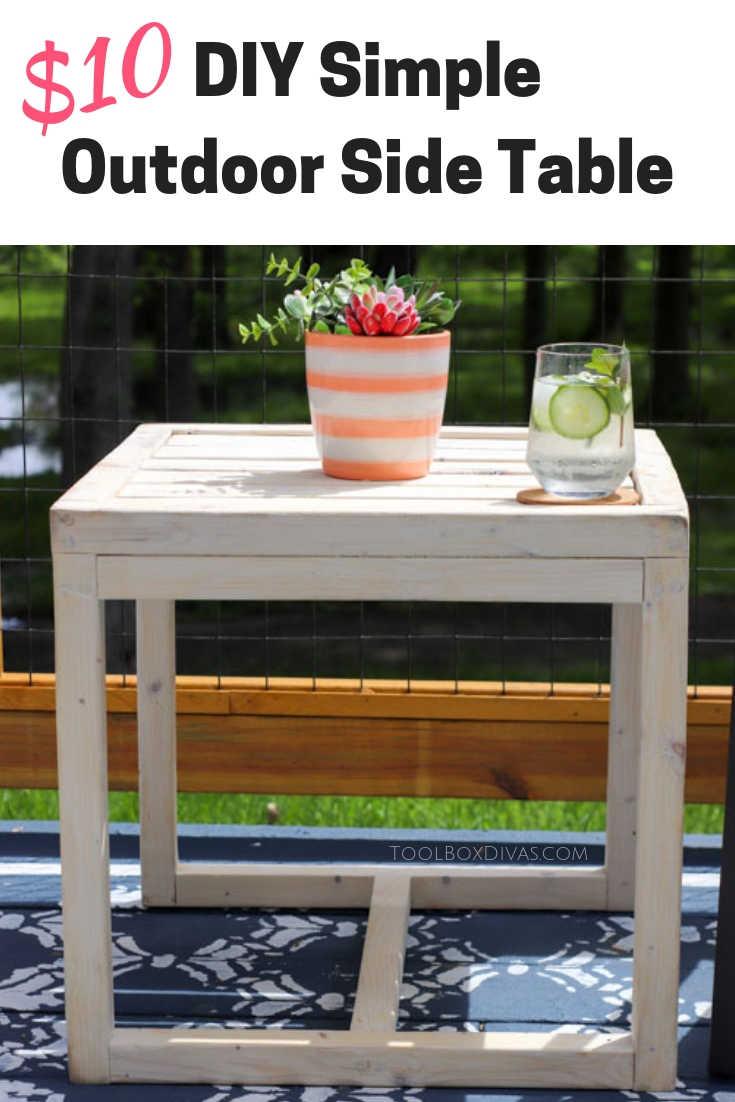 Simple 10 Diy Outdoor Side Table Toolbox Divas