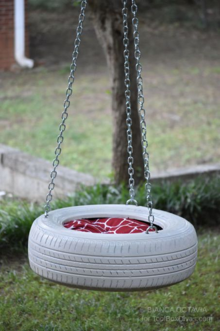 How to make a tire swing @toolboxdivas