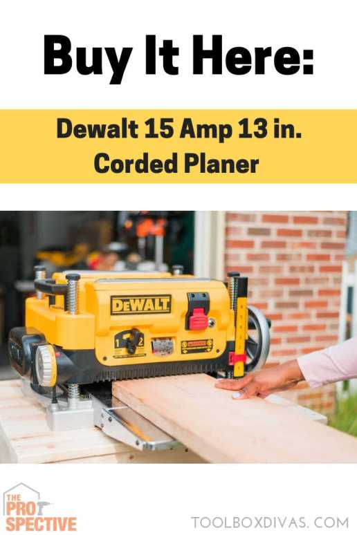 DEWALT 15 Amp 13 in. Corded Planer buy it here Toolbox Divas