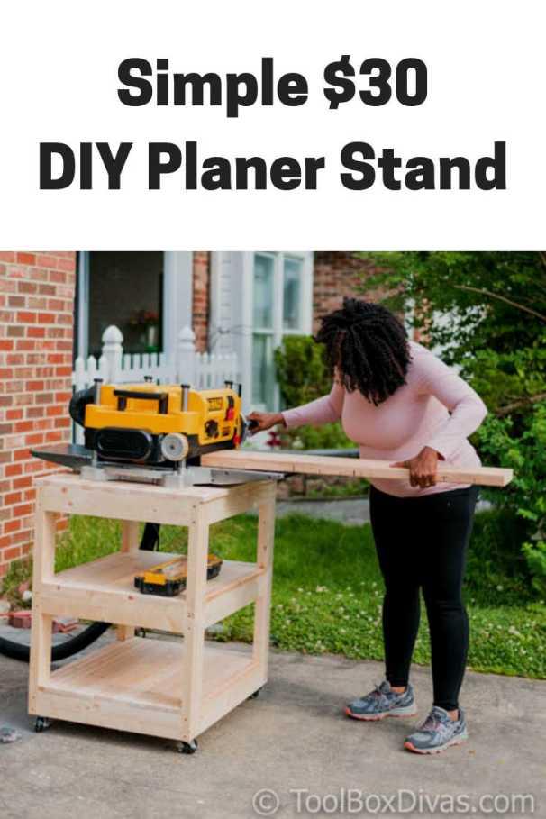 Simple DIY Planer stand @ToolBoxDivas