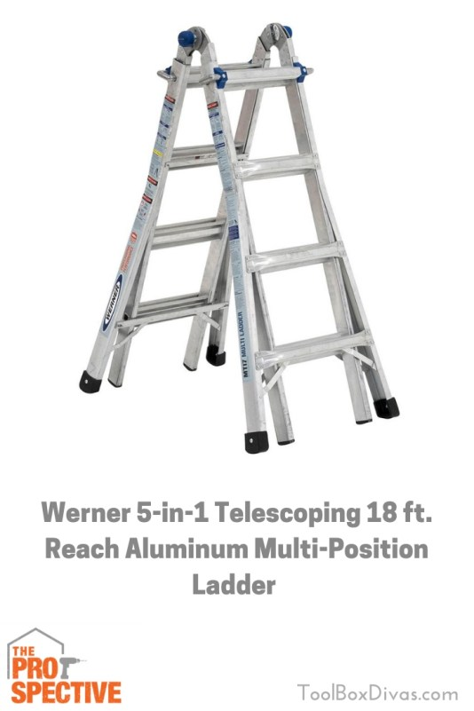 Werner 5-in-1 Telescoping 18 ft. Reach Aluminum Multi-Position Ladder Tool Review by Toolbox Divas