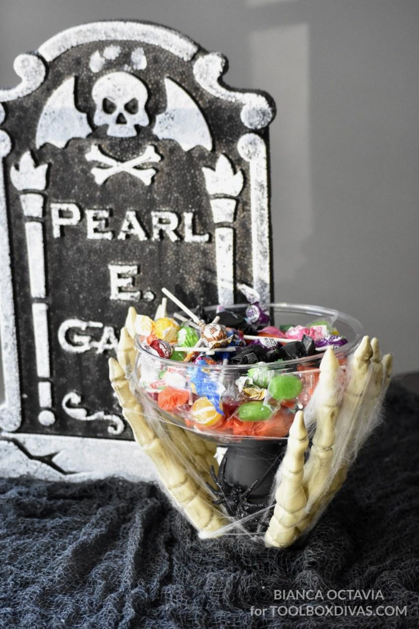 DIY Halloween Candy Dish - Dollar Tree Project @Toolboxdivas vertical
