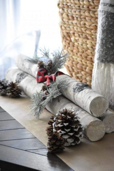 DIY Faux Birch Logs @toolboxdivas
