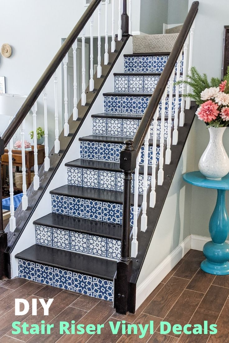 removable stair riser decals made with