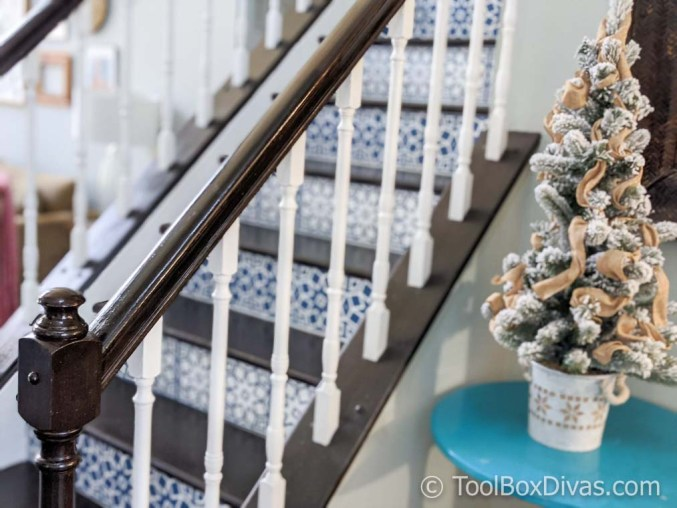 DIY Vinyl Mosaic Tile Stair Riser Decals with Cricut @ToolBoxDivas -38-of-94