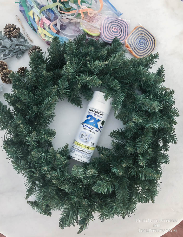 Winter Wreath ideas between Christmas and spring into the Winter Decorations @ToolBox Divas