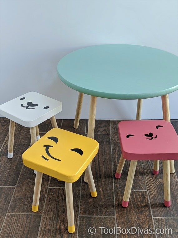 DIY Round Play Table with Dipped Stools @Toolboxdivas (33 of 74)
