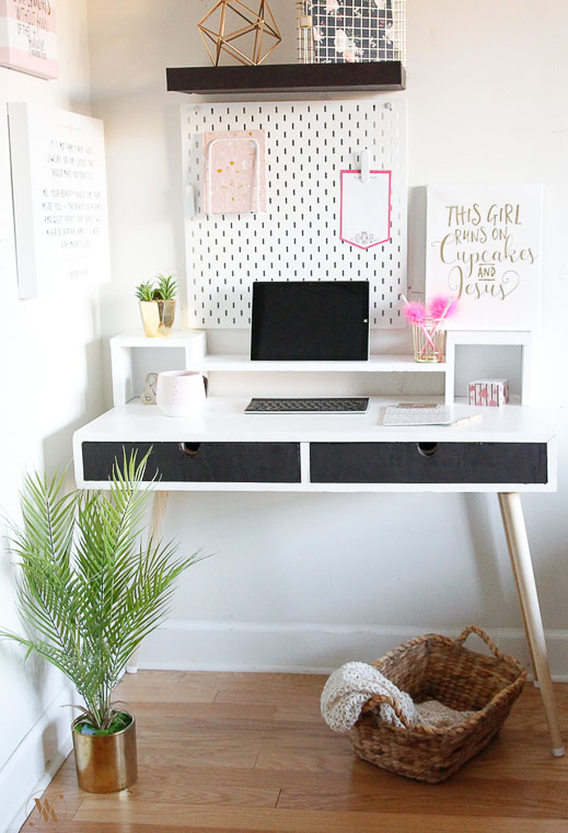 Mid Century Modern Desk With Monitor Stand And Free Plans Toolbox Divas