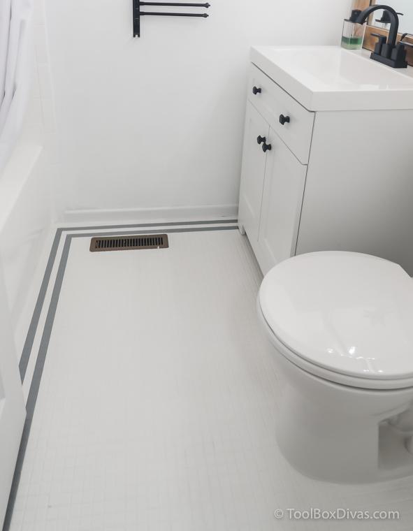 how to paint your bathroom tile floors