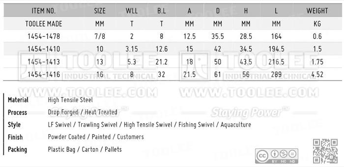 1454 Trawling Swivel LF Type